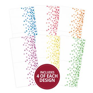"Confetti Dots 6""x6"" - Design Essentials Card Blanks & Envelope Pack"