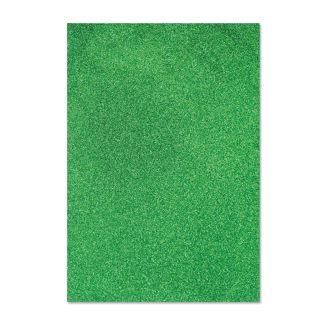 Glitter Card - Dark Green x 5 sheets