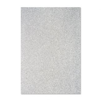 Glitter Card - Silver x 5 sheets