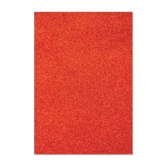 Glitter Card - Festive Red x 5 sheets