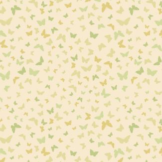 Lewis & Irene - Fat Quarters - Butterflies on mellow yellow