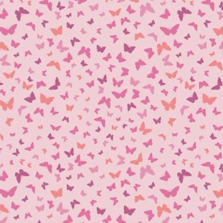 Lewis & Irene - Fat Quarters - Butterflies on peaceful pink