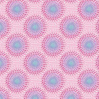 Lewis & Irene - Fat Quarters - Pinky circles