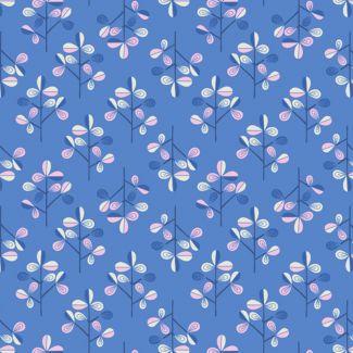 Lewis & Irene - Fat Quarters - Hann's Tree on blue