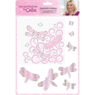 Cut and Emboss by Chloe - Dragonfly Swirls