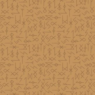 Lewis & Irene - Fat Quarter - Runes on ochre