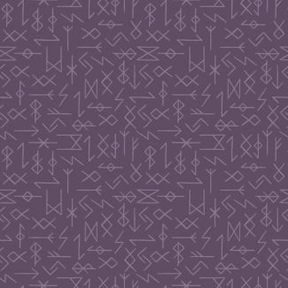 Lewis & Irene - Fat Quarter - Runes on purple