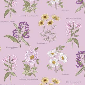 Lewis & Irene - Botanic Garden - Botanic Flowers on Lilac