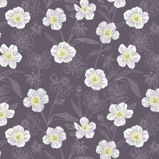 Lewis & Irene - Botanic Garden - Rambling Floral on Dark