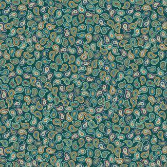 Lewis & Irene - Soraya - Small paisley greens