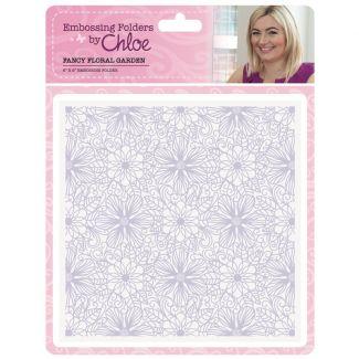 Embossing Folder by Chloe - 6x6 Fancy Floral Garden