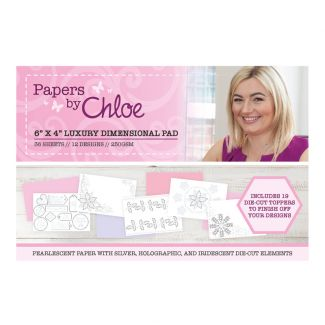 """Papers by Chloe Christmas Sparkle 6"""" x 4"""" Luxury Dimensional Pad"""