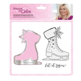 Stamps by Chloe - Ice Skate Stamp and Die Collection