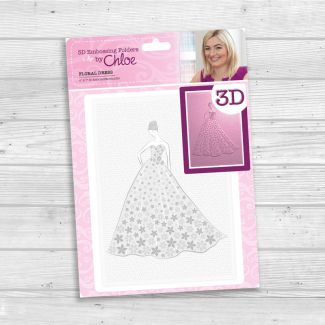 "3D Embossing Folder by Chloe - Floral Dress (size 7"" x 5"")"