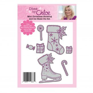 Dies by Chloe - Mini Christmas Stocking and Ice Skate Die Set