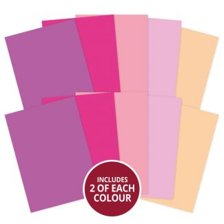 Adorable Scorable A4 Cardstock x 10 sheets - Pink Shades (2021-2022)