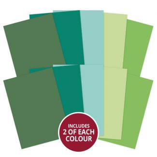 Adorable Scorable A4 Cardstock x 10 sheets - Green Shades (2021-2022)