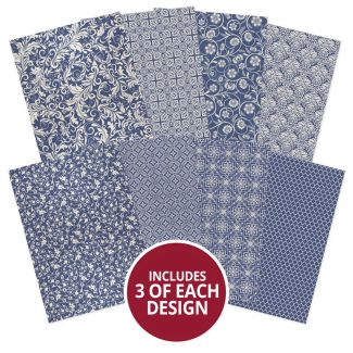 Adorable Scorable Pattern Pack - Blue & Cream
