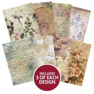 Adorable Scorable Pattern Pack - De-Stressed Paper