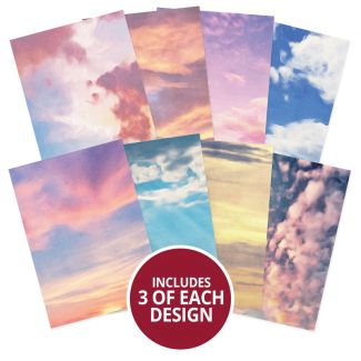 Adorable Scorable Pattern Pack - Painted Clouds