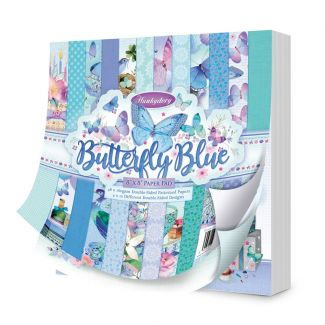 """Butterfly Blue 8"""" x 8"""" Paper Pad"""