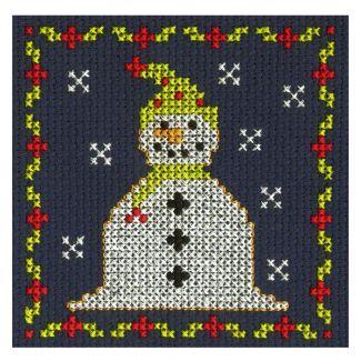 Jolly Snowman Mini Cross Stitch Kit