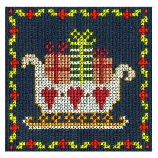 Santa Sleigh Mini Cross Stitch Kit