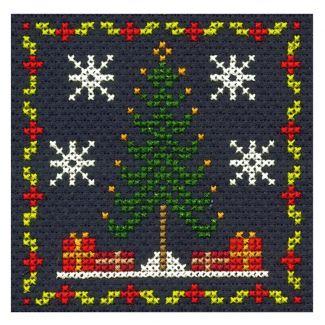 Christmas Tree Mini Cross Stitch Kit