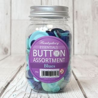 Hunkydory Button Assortment - Blues