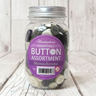 Hunkydory Button Assortment - Monochrome