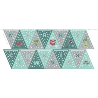 Christmas Glow - Blue/grey Bunting