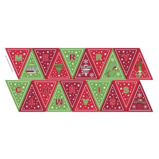 Christmas Glow - Green/red Bunting