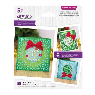Create A Card - Interchangeable Holly Frame