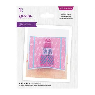 Gemini - Create A Card - Christmas Pop Out - Stacked Gifts