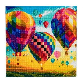 Framed Crystal Art Kit 30cm x 30cm - Hot Air Balloon
