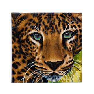Framed Crystal Art Kit 30cm x 30cm - Leopard