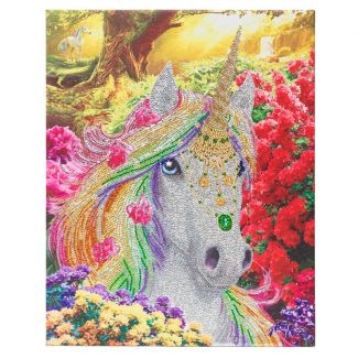 Framed Crystal Art Kit 40cm x 50cm - Unicorn Forest