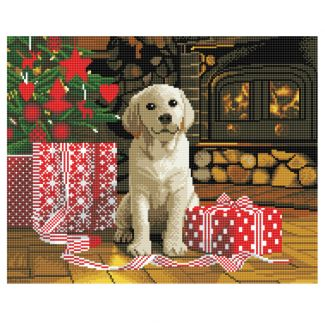 Framed Crystal Art Kit 40cm x 50cm - Labrador Pup