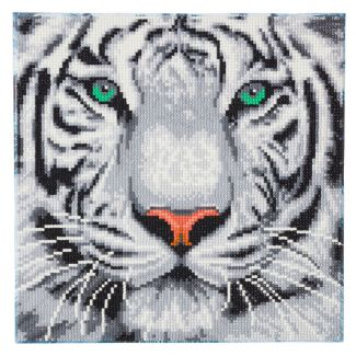 Framed Crystal Art Kit 30cm x 30cm - White Tiger