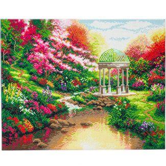 Framed Landscape Crystal Art Kit 40cm x 50cm - Pools of Serenity - Thomas Kinkade
