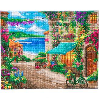 Framed Landscape Crystal Art Kit 40cm x 50cm - Italian Caf