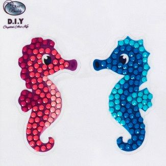 Crystal Art Motif Kit - Seahorse Couple