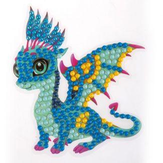 Crystal Art Motif Kit - Friendly Dragon 9cm x 9cm
