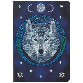 Crystal Art Notebook Kit - Lunar Wolf by Anne Stokes