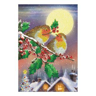 Crystal Art Notebook - Midnight Robins