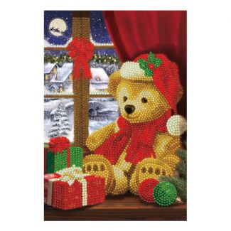 Crystal Art Notebook - Festive Teddy