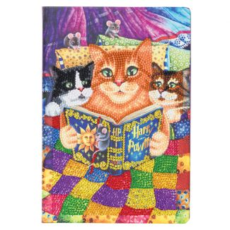 Crystal Art Notebook Kit - Kitten Bedtime (size approx A5)