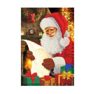 Crystal Art Notebook Kit - Santa's List