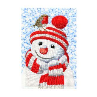 Crystal Art Notebook Kit - Friendly Snowman