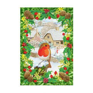 Crystal Art Notebook Kit - Robin Foliage